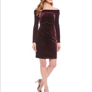 NWT Eliza J Velvet Off The Shoulder Dress Size 6